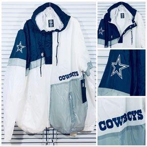 Dallas Cowboys NFL 1/4 Zip Windbreaker Jacket